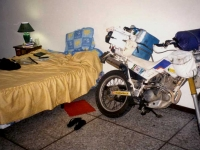 Sleeping with my bike in El Salvador