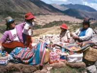 Roadside traders in Peru