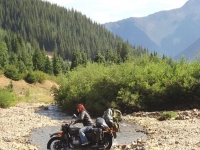 River crossing in the Rockies