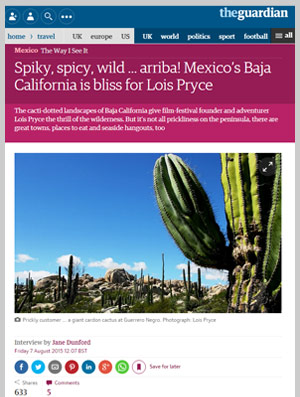 Spiky, spicy, wild ... arriba! Mexico's Baja California is bliss for Lois Pryce