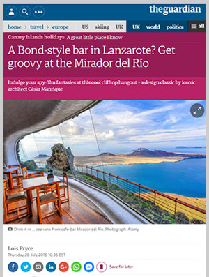 A Bond-style bar in Lanzarote? Get groovy at the Mirador del Río