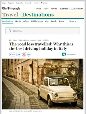 The road less travelled: Why this is the best driving holiday in Italy
